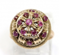 Big, gold ruby ring
