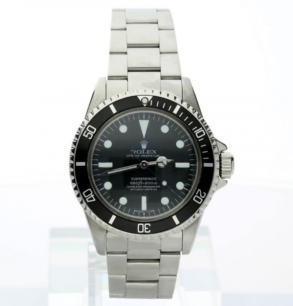 Vintage 1950s Rolex Submariner #5512 stainless steel watch