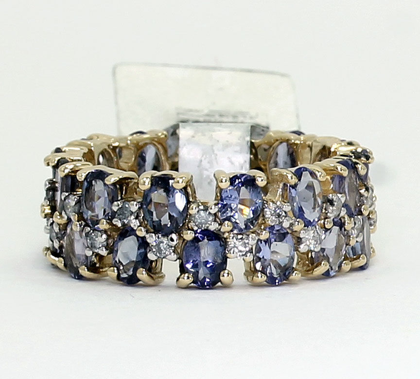 tanzanite wedding band