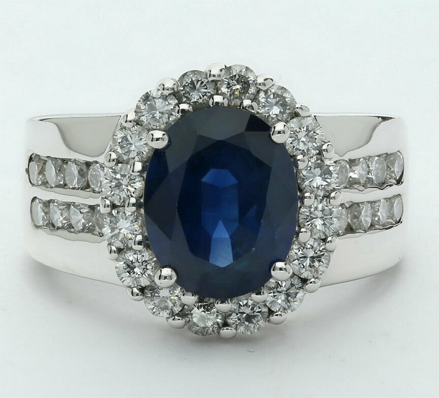 Affordable Sapphire and Diamond Ring