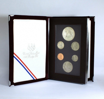 1988S Olympic Prestige U.S. mint 6 silver coin set in original box & gem cases!